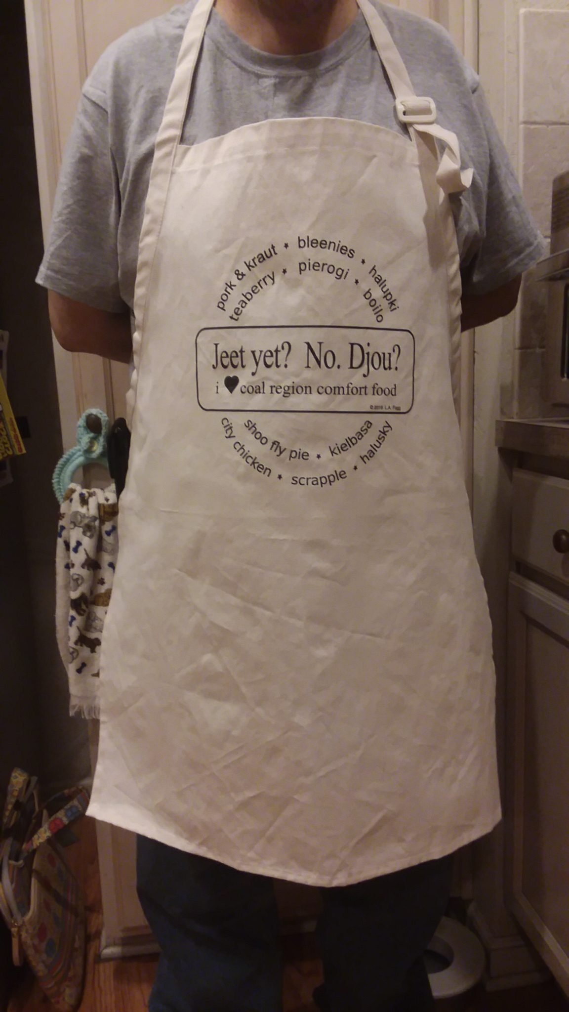 """Jeet Yet?"" Baker's/Chef's Canvas Apron"