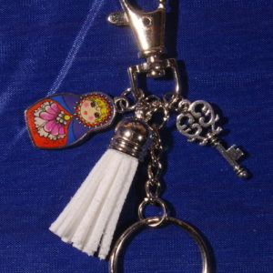matroyshka dangle keychain